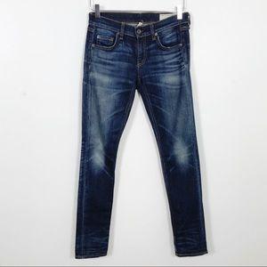 Rag &Bone The Dre Skinny Jeans Sz 24